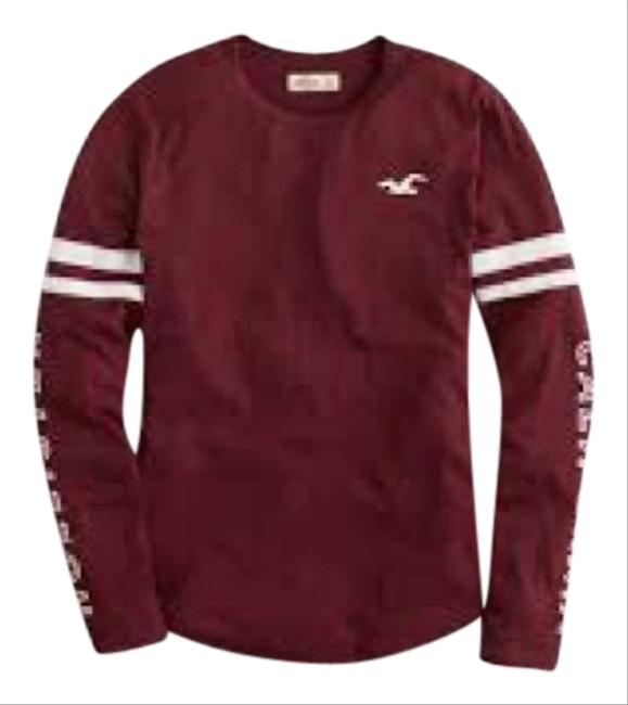 f93bd1178 Hollister Maroon Long Sleeve Graphic Tee Shirt Size 4 (S) - Tradesy