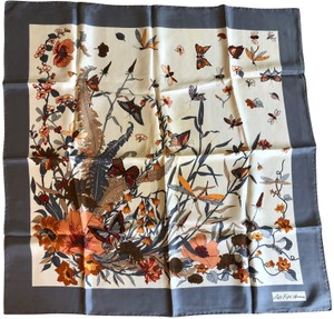 cb982ce1a78 Saks Fifth Avenue Saks Fifth Avenue 100% Silk Scarf with Butterflies