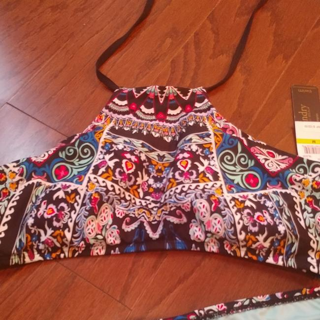 Laundry by Shelli Segal 2 piece high neck bikini. Beautiful pattern and colors. New with tag. Size medium Image 2
