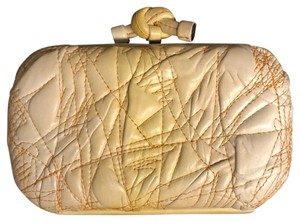 Bottega Veneta Leather Ombre Yellow Clutch