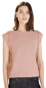Zara Side Cut Out Side Detail Sequin Top pink