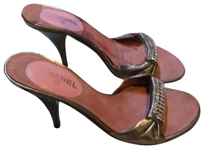 Item - Gold Patent Leather & Pink Italy Sandals Size EU 35.5 (Approx. US 5.5) Regular (M, B)