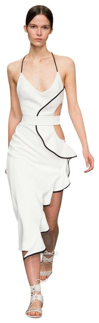 Preload https://img-static.tradesy.com/item/23759850/dior-bella-white-elyse-asymmetrical-cutout-bandage-mid-length-cocktail-dress-size-4-s-0-1-650-650.jpg