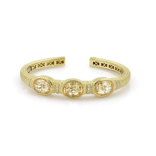 Preload https://img-static.tradesy.com/item/23759871/judith-ripka-canary-crystal-and-diamond-18k-yellow-gold-3-stone-cuff-bracelet-0-0-540-540.jpg