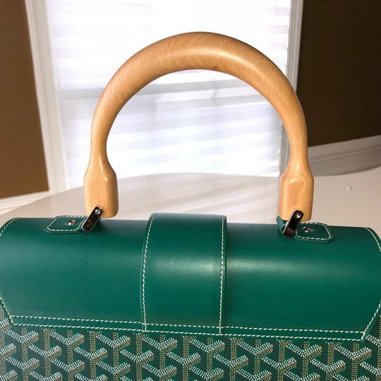 Goyard Satchel in Green Image 6
