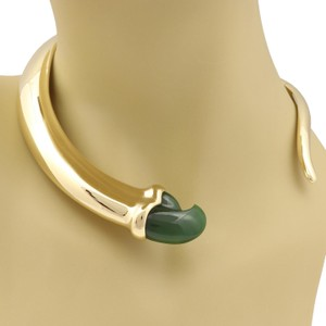 62e69a3fa Tiffany & Co. Jade 18k YGold Fancy Claw Graduated Curved Choker Necklace