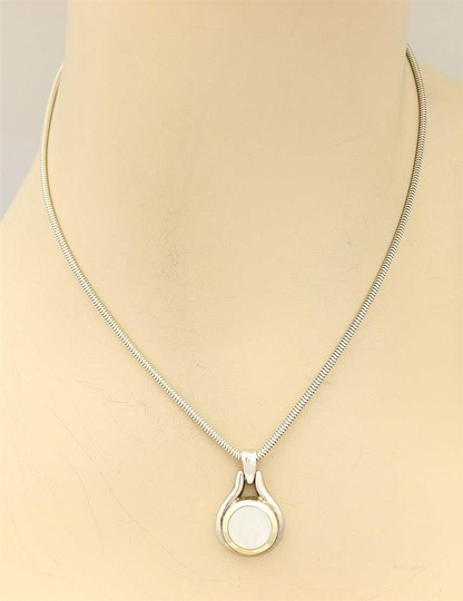 Tiffany & Co. Sterling 18k Yellow Gold Mother Of Pearl Pendant Necklace Image 1