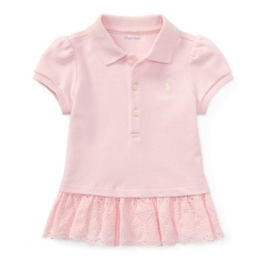 6ec1ac7c44 Ralph Lauren Pink Girl Baby Eyelet Polo and Bloomer Maternity Dress Size 10  (M)