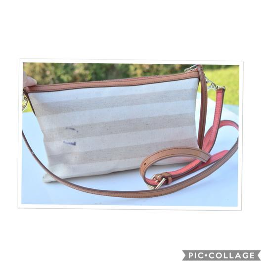 Preload https://img-static.tradesy.com/item/23760166/fossil-cream-and-tan-coated-canvas-leather-cross-body-bag-0-0-540-540.jpg