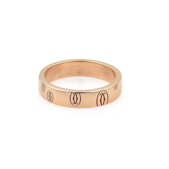 Cartier Happy Birthday 18k Rose Gold 4mm Wide Band Ring Size 49-US 5 Cert. Image 3