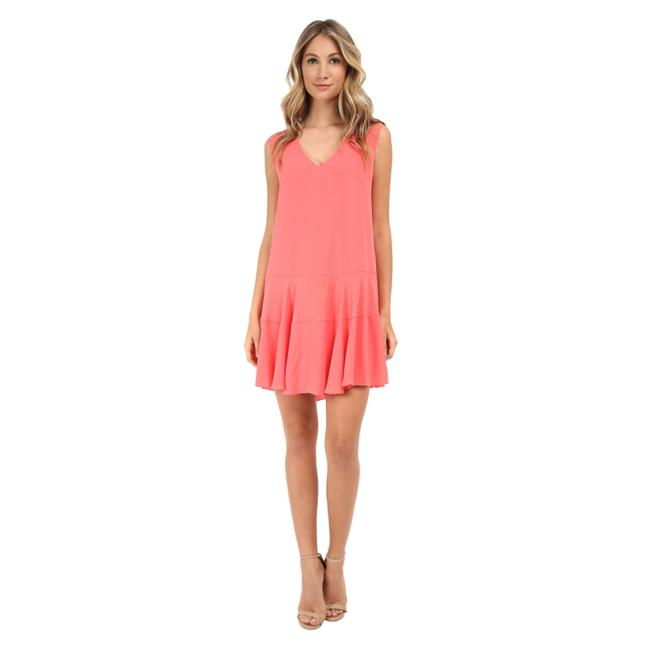Preload https://img-static.tradesy.com/item/23760200/bcbgmaxazria-coral-pink-clea-a-line-double-flounce-short-casual-dress-size-12-l-0-0-650-650.jpg