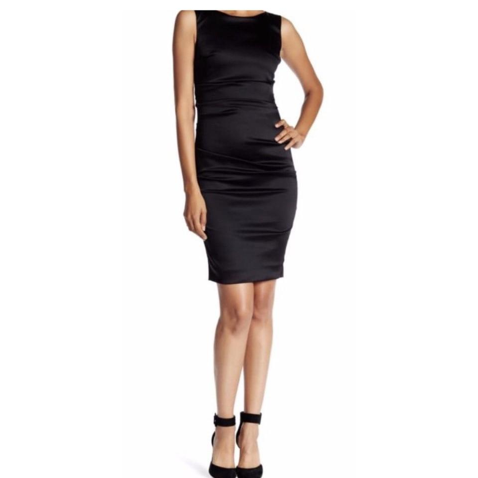 Miller Satin Cocktail Dress Sheath Nicole p0dRwqR