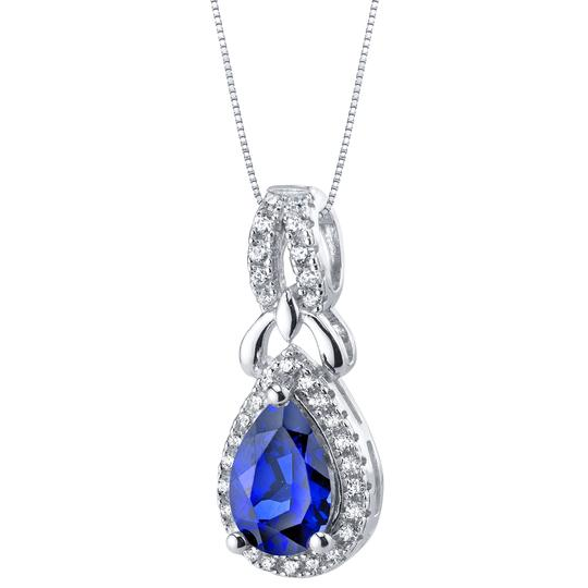 Other Sapphire Halo Pendant Image 2