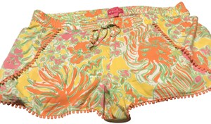 Lilly Pulitzer for Target Multi Color Base Lions Cuffed Shorts Yellow