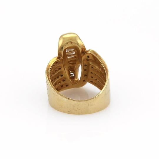 Other Estate 1.00ct Diamond 18k Yellow Gold Cobra Wide Band Ring Image 3