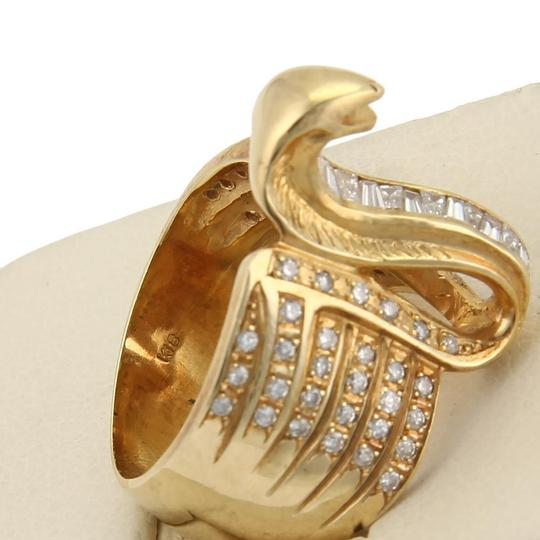 Other Estate 1.00ct Diamond 18k Yellow Gold Cobra Wide Band Ring Image 4