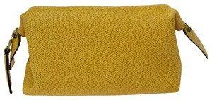 Céline Made In Italy Yellow Red Clutch