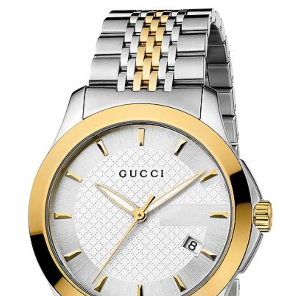 804ee3d33cd Gucci Unisex Swiss G-Timeless Two Tone Stainless Steel Bracelet Watch 38mm  YA126409 Image 0 ...