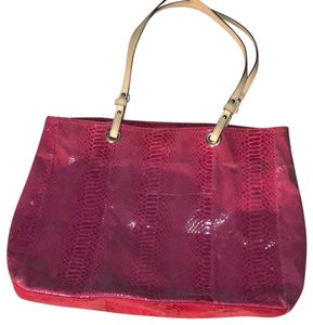 Wilsons Leather Tote in Fuchsia/Purple