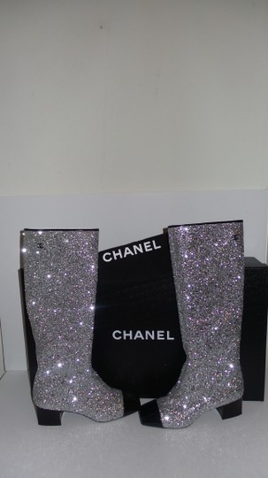 Chanel SILVER Boots Image 10