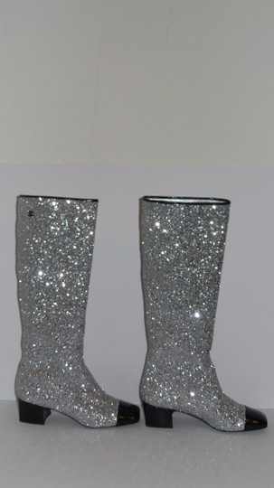 Chanel SILVER Boots Image 4