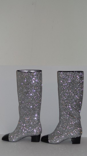 Chanel SILVER Boots Image 3