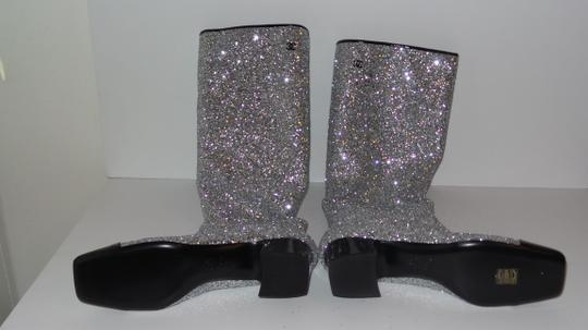 Chanel SILVER Boots Image 6