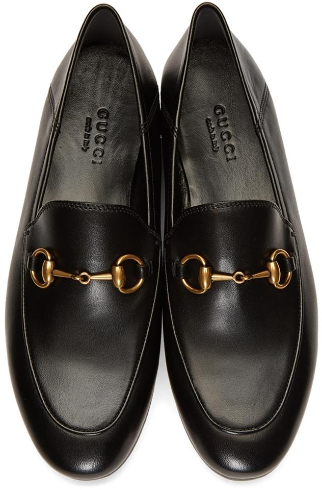 934373c7044 Gucci Black Horsebit Brixton Crushback Loafer Flats Size US 6.5 ...