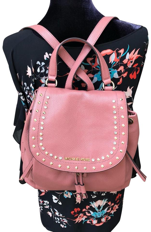 705d210646ac Michael Kors Large Pebble Gold Studded Rose Leather Backpack - Tradesy