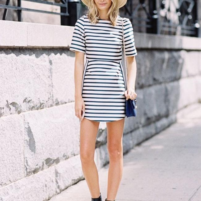 J.Crew short dress navy/white on Tradesy Image 8
