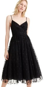 J.Crew Holiday Party Tulle Star Embroidered Dress
