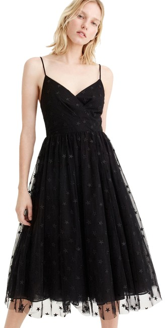 Preload https://img-static.tradesy.com/item/23760854/jcrew-black-spaghetti-strap-star-tulle-midi-embroidered-mid-length-cocktail-dress-size-petite-12-l-0-1-650-650.jpg