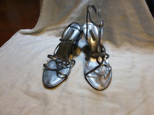 Louis Vuitton SILVER PATENT LEATHER Wedges Image 2