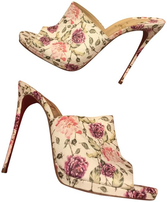Item - Latte (Multi) Pigamule Floral Print Watersnake Platform Heels Sandals Mules/Slides Size EU 42 (Approx. US 12) Regular (M, B)