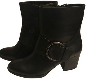 Gabor Leather Buckle Black Boots