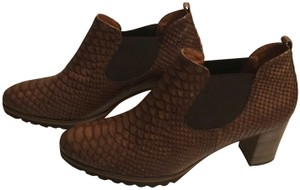 Gabor Leather Snakeskin Brown Boots