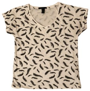 Forever 21 T Shirt White with Charcoal Gray