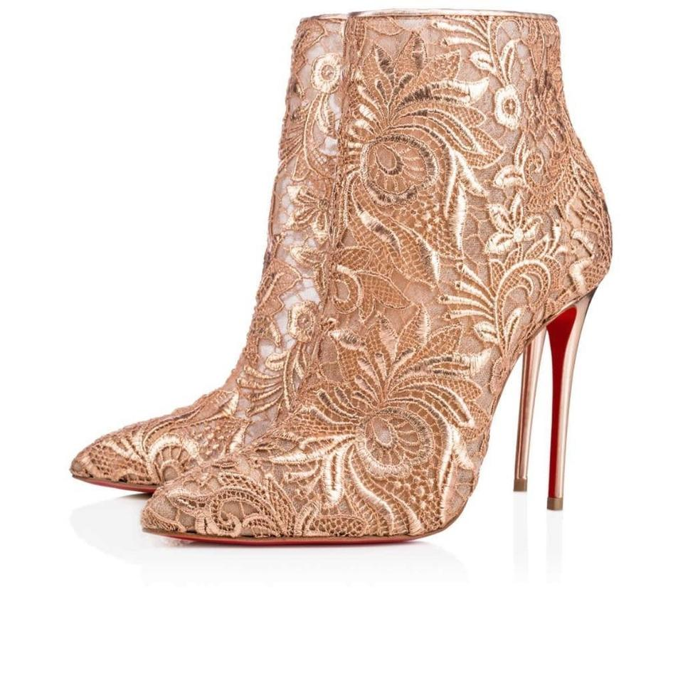 new york ad649 6c8b8 Christian Louboutin Nude/Cipria Gipsybootie Gipsy 100 Floral Lace Ankle  Heels Boots/Booties Size EU 38.5 (Approx. US 8.5) Regular (M, B) 32% off ...