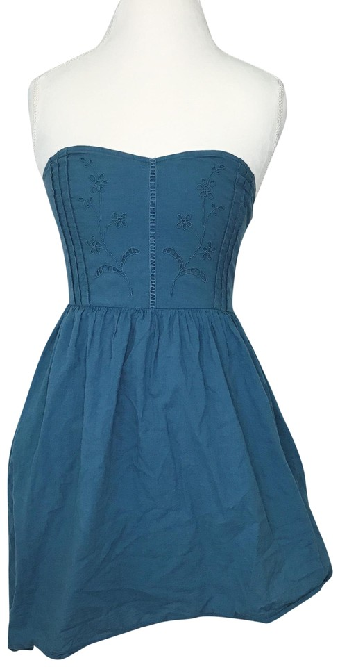 12b8285621fc Urban Outfitters Blue Embroidered Casual Dress. Size: 8 (M) Length: Short  ...