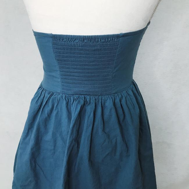 cbf50a88deb8 Urban Outfitters Blue Embroidered Short Casual Dress Size 8 (M ...