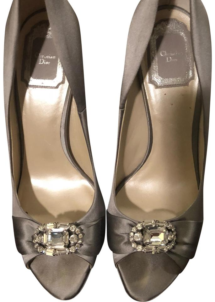 WOMENS Dior and Silver Satin Pumps Modern and Dior stylish fashion a04ff9