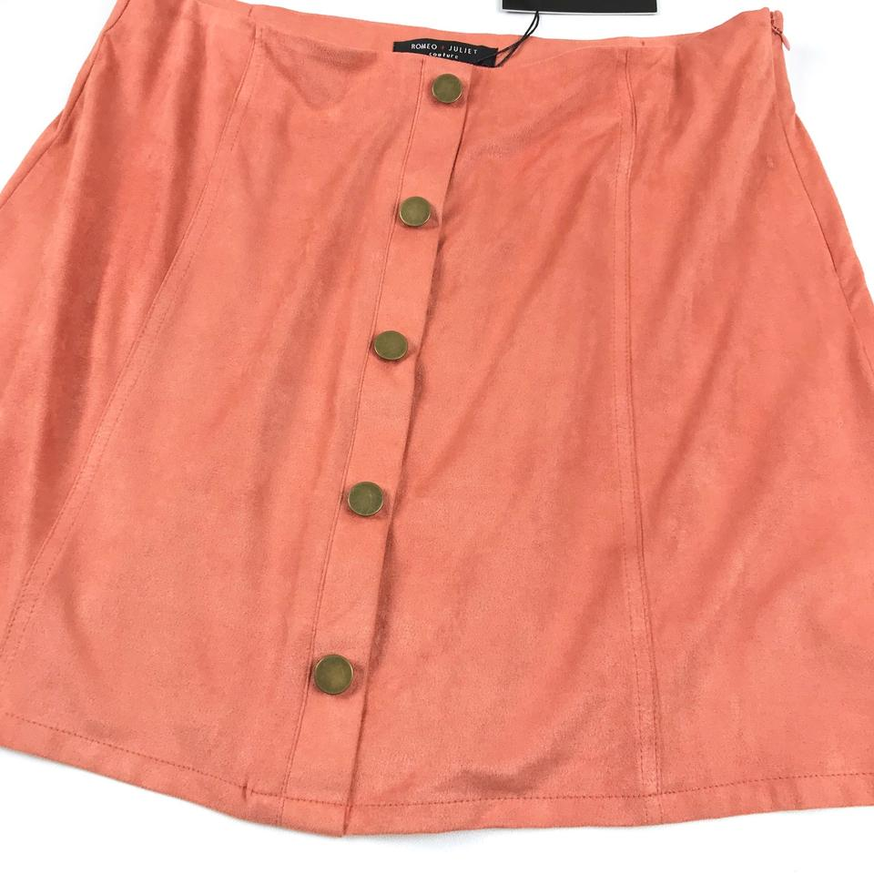 b0c190ac5a Romeo & Juliet Couture Apricot Faux Suede Skirt Size 8 (M, 29, 30 ...