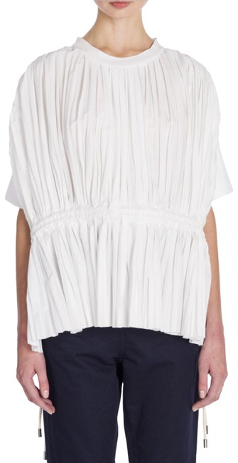 Preload https://img-static.tradesy.com/item/23761562/marni-white-pleated-front-tunic-blouse-size-6-s-0-1-650-650.jpg