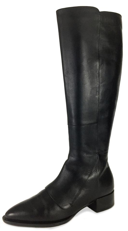 Vince Black Made In Pointy Italy Leather Calf Pointy In Boots/Booties f089a3