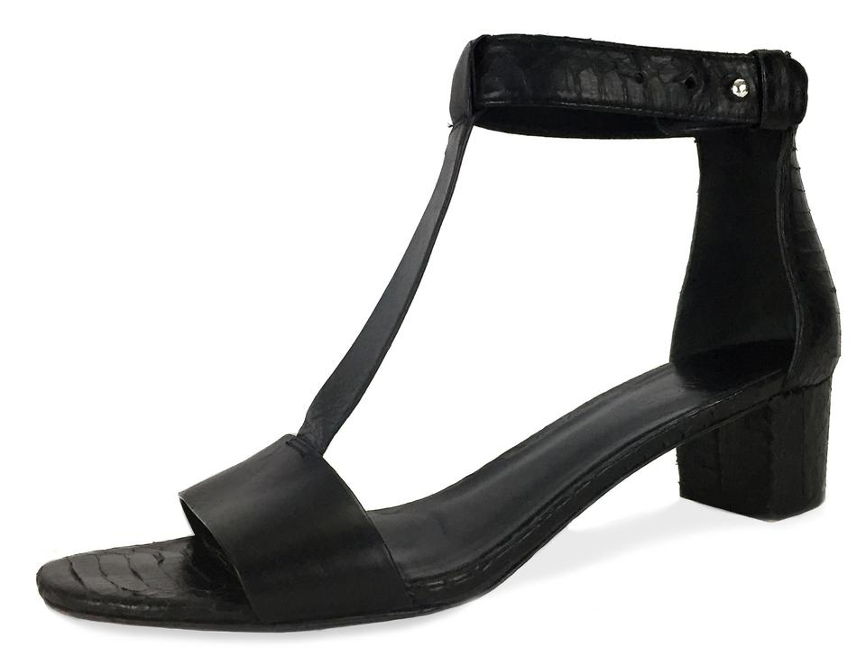 03c4c4cfb38b Vince Black Made In Italy Leather Gladiator Low Heel Sandals Size US ...