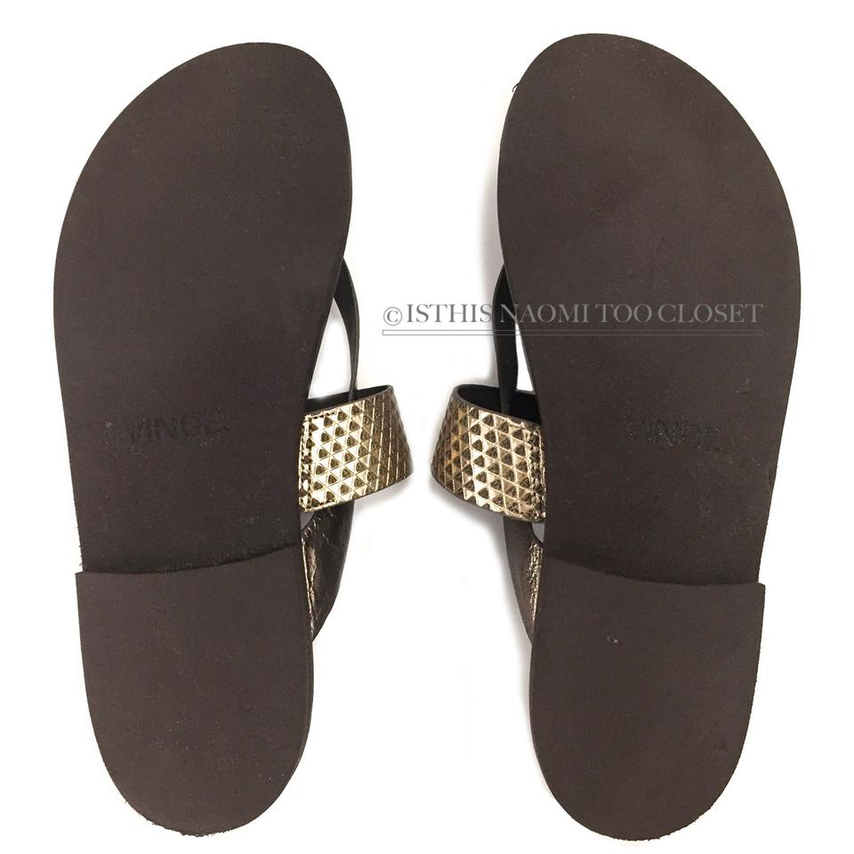 e1064f5f272 Vince Casual Comfortable Clean Shopping Leather Bronze Sandals Image 4.  12345