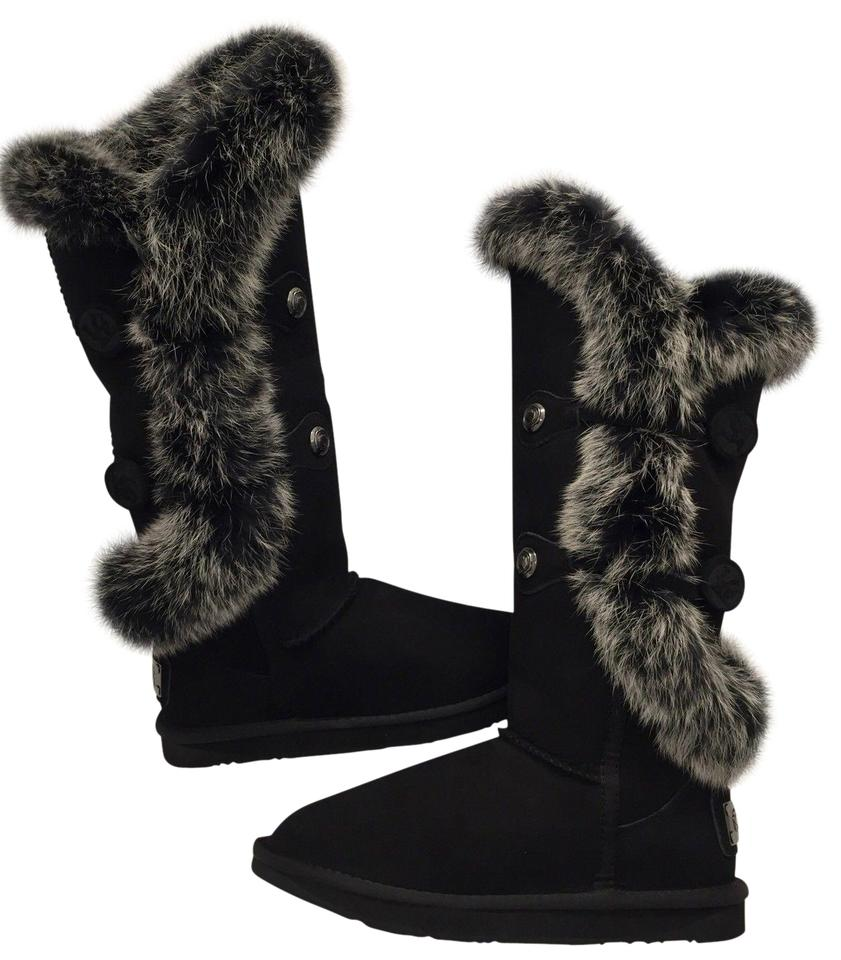 e25555285f6 Australia Luxe Collective Black Nordic Angel Tall Rabbit Fur and Shearling  Boots/Booties Size US 7 Regular (M, B) 50% off retail