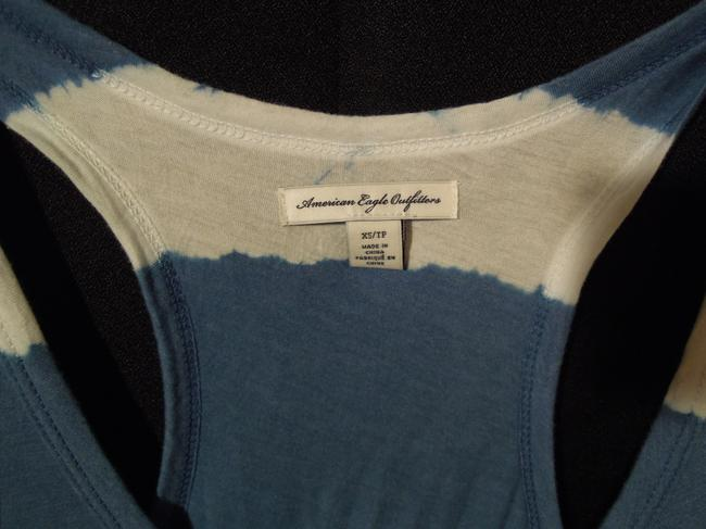 American Eagle Outfitters Top blue & white stripe