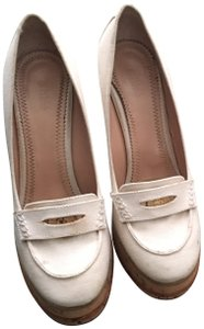 8870f4e705b2 EU 39 (Approx. US 9). Chloé Made In Italy Fashionable Sporty Sporty  Versatile Ivory White Wedges