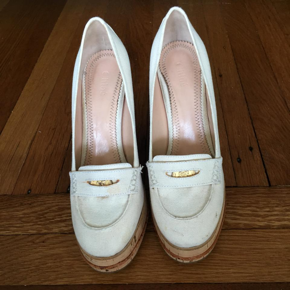 f3a0752da44c Chloé Made In Italy Fashionable Sporty Sporty Versatile Ivory White Wedges  Image 3. 1234
